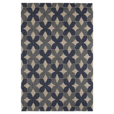Lana Hand-Tufted Stratton Blue Area Rug Size: 26 x 36