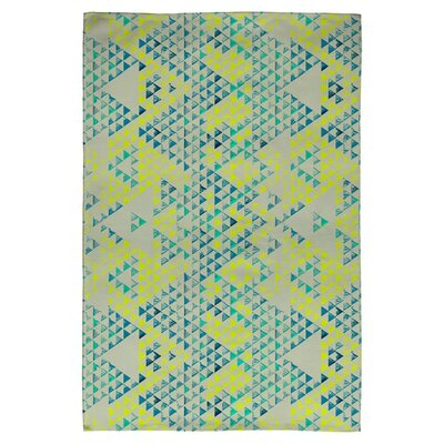 Triangle Marine Green Area Rug Rug Size: 2 x 3