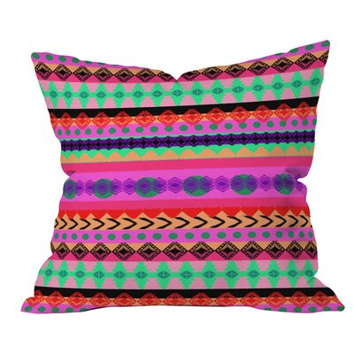 Tribal Stripe Outdoor Throw Pillow Size: 16 H x 16 W x 4 D