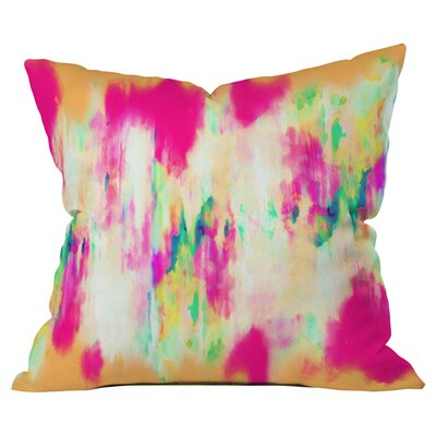 Electric Haze Outdoor Throw Pillow Size: 18 H x 18 W x 4 D