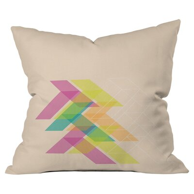 Geo Outdoor Throw Pillow Size: 16 H x 16 W x 4 D