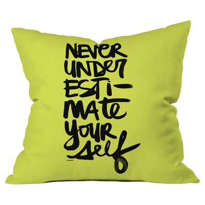Never Outdoor Throw Pillow Size: 16 H x 16 W x 4 D