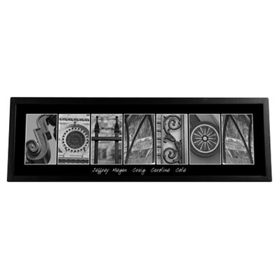 'Personalized Architecture' Framed Graphic Art Print on Glass GC1008