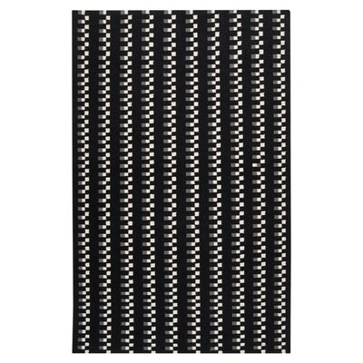 Donley Black Area Rug