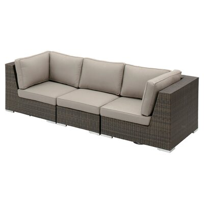 Carter Rattan Sectional Sofa with Cushion