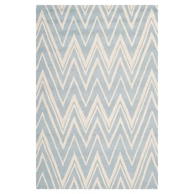 Martins Hand-Tufted Wool Blue/Ivory Indoor/Outdoor Area Rug Rug Size: Rectangle 4 x 6