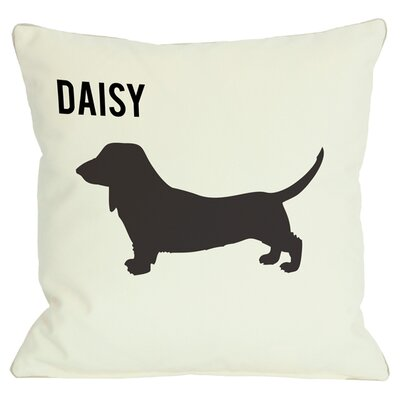 Personalized Love & Doxie Throw Pillow