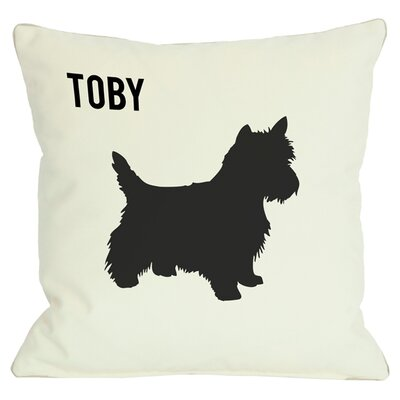 Personalized Love & Westie Throw Pillow