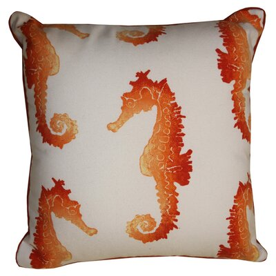 Arielle Indoor/Outdoor Throw Pillow Color: Orange