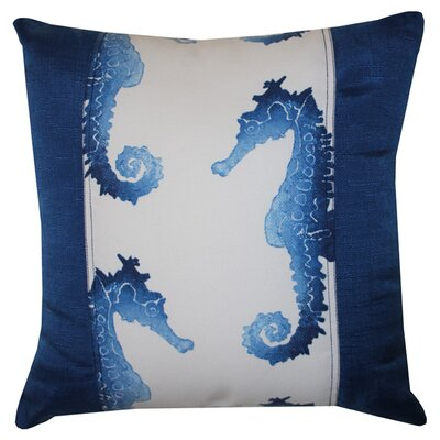 Lydia Indoor/Outdoor Throw Pillow Color: Blue