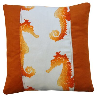 Lydia Indoor/Outdoor Throw Pillow Color: Orange