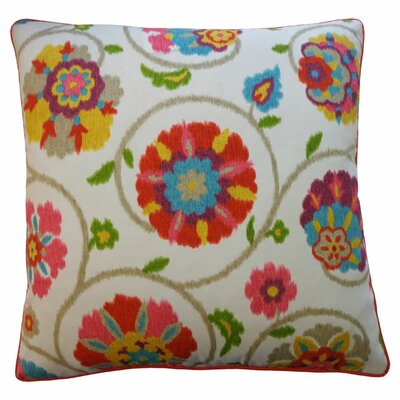 Mona Indoor/Outdoor Throw Pillow Color: Tangerine