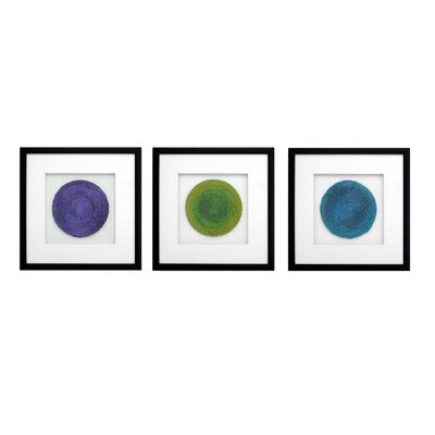 Circles Framed Graphic Art 1-18972set