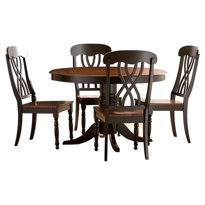 Alberta 5 Piece Dining Set Finish: Black