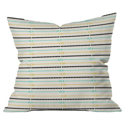 Arrow Pattern Outdoor Throw Pillow Size: 16 H x 16 W