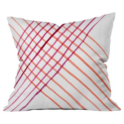 Threads That Bind Outdoor Throw Pillow Size: 18 H x 18 W