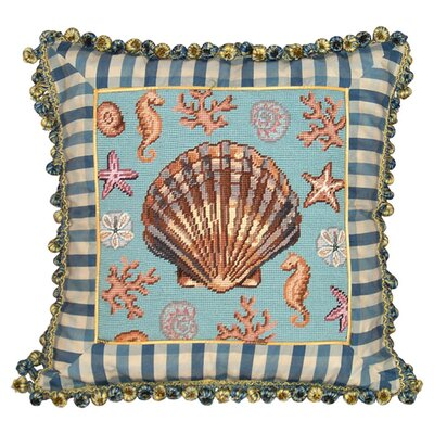 Sea Life Wool Throw Pillow