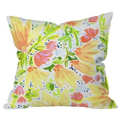 Orange Blossom Pillow II Size: 18 x 18