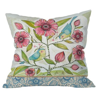 Birds of Happiness Outdoor Throw Pillow Size: 20 H x 20 W x 4 D