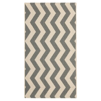 Jefferson Place Gray/Beige Indoor/Outdoor Area Rug Rug Size: Rectangle 4 x 57