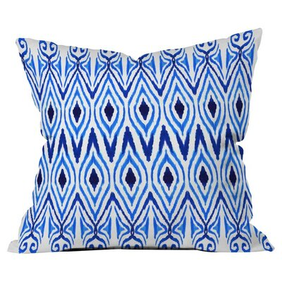 Ikat Blue Pillow Size: 16 x 16