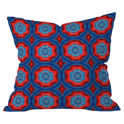 Red Sun Flowers Throw Pillow (Set of 2) Size: 18 H x 18 W x 4 D