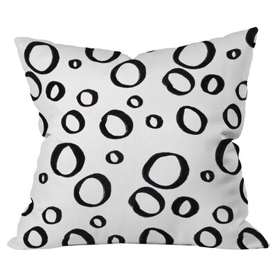 Bubbly Outdoor Throw Pillow Size: 16 H x 16 W x 4 D