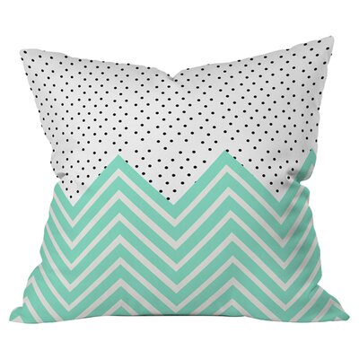 Chevron and Dots Outdoor Throw Pillow Size: 16 H x 16 W x 4 D