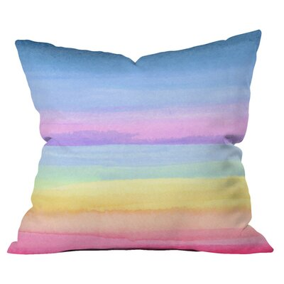 Rainbow Ombre Outdoor Throw Pillow Size: 20 H x 20 W x 4 D