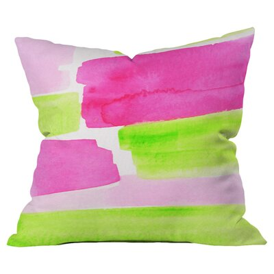 The Garden Party Outdoor Throw Pillow Size: 18 H x 18 W x 4 D