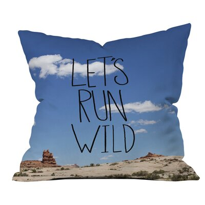 Lets Run Wild x Moab Outdoor Throw Pillow Size: 18 H x 18 W x 4 D