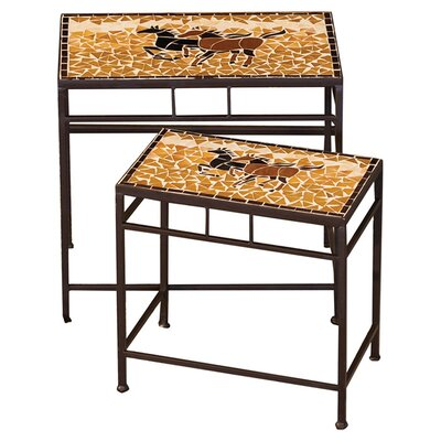 2 Piece Caballo Indoor/Outdoor Side Table Set