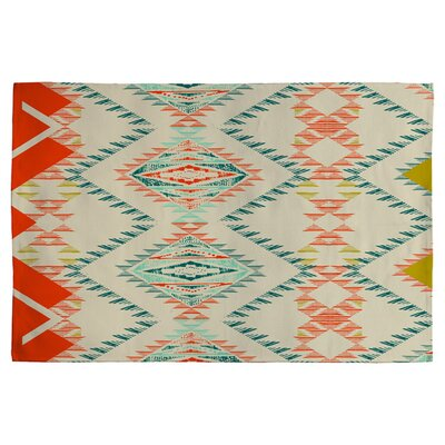 Marker Southwest Rug Off-white/ Red/Turquoise Area Rug Rug Size: 2' x 3'