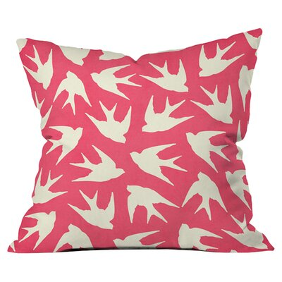 Birds Throw Pillow Size: 26 H x 26 W x 4 D