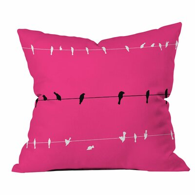 Neon Nature Outdoor Throw Pillow Size: 16 H x 16 W x 4 D