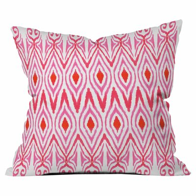 Ikat Watermelon Outdoor Throw Pillow Size: 16 H x 16 W x 4 D