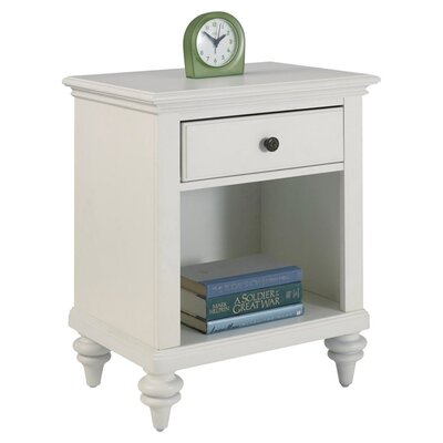 Kenduskeag 1 Drawer Nightstand Finish: Brushed White