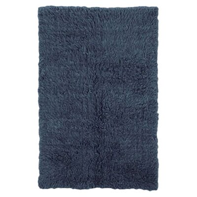 Boris Hand-Woven Denim Blue Area Rug Rug Size: 8 x 10