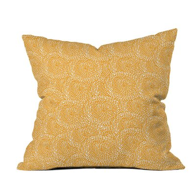 Dahlias Outdoor Throw Pillow Size: 16 H x 16 W x 4 D