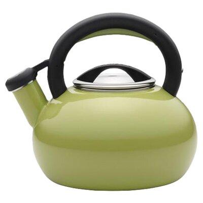 1.5 Qt Whistling Stovetop Kettle Color: Green, Capacity: 2 Quart 56521