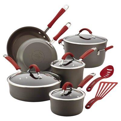 Cucina 12 Piece Non-Stick Cookware Set Color: Red 87630