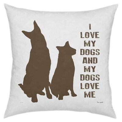 My Dogs Throw Pillow