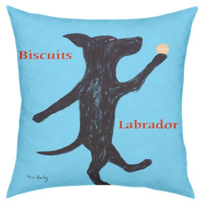 Labrador Biscuits Throw Pillow
