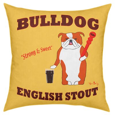 Bulldog English Stout Throw Pillow