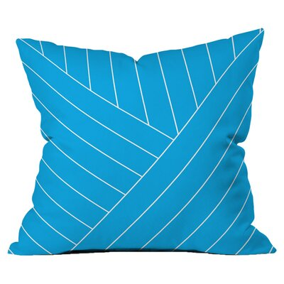 Wave Outdoor Throw Pillow Size: 18 H x 18 W x 4 D