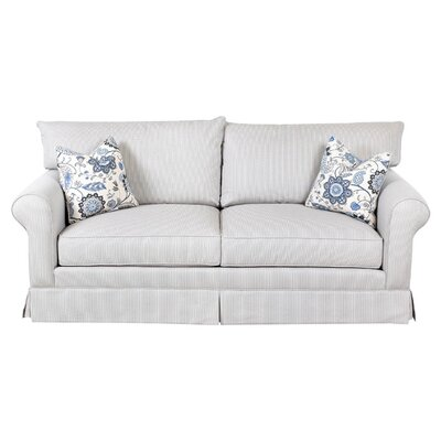 Hettie Sofa Upholstery: Cream / Indigo, Piping: Classic Bleach