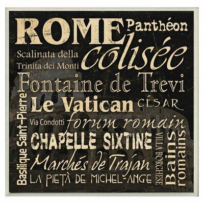 'Rome Landmarks' Textual Art