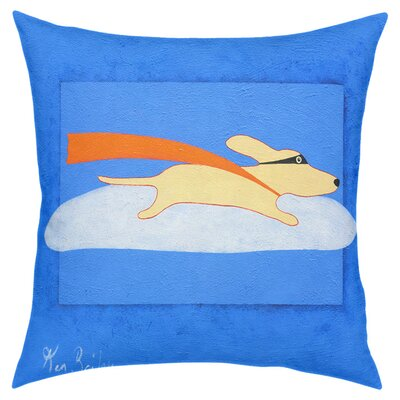 Super Dog Throw Pillow