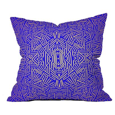 Radiate Royal Outdoor Throw Pillow Size: 18 H x 18 W