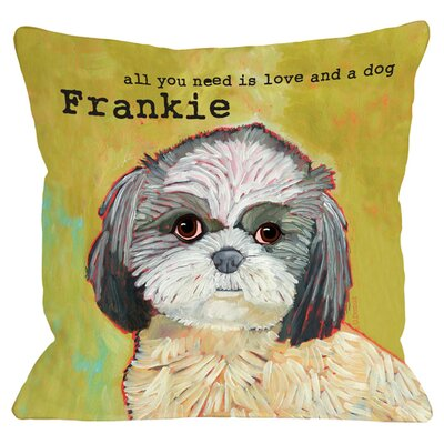 Personalized Shih Tzu Throw Pillow
